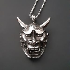 Stainless Steel Devil Head Pendant With Chain